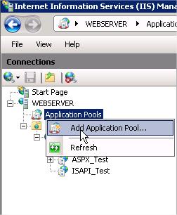 Add application pool